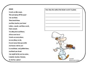 Unit 1 - Poem A Week - Fluency Fun!