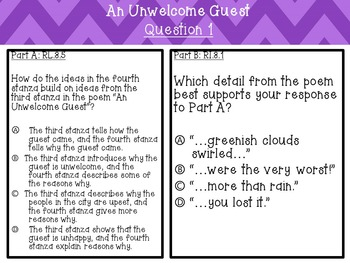 Poem An Unwelcome Guest Text Based Questions
