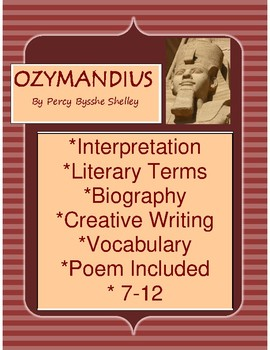 Shelley Poem: Ozymandius Grades 7-10 Interpretation, Bio, Vocab