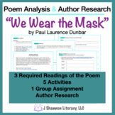 Poem Analysis and Author Research: We Wear the Mask
