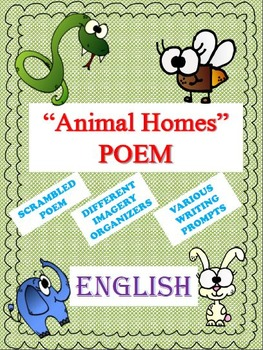 "Poem ""Animal Homes"" (ENGLISH) with Various Different Activities"