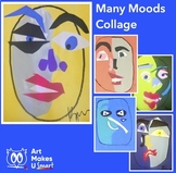 Poem Art Lesson Many Moods Poem Face Collage
