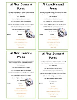Poem Book ! -Diamante, Cinquain and Haiku
