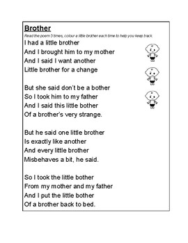 Poem: Bother, with rhyming words and personal opinion follow up