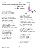 """Poem """"Caged Bird"""" by Maya Angelou with Questions"""