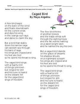 Still I Rise And Caged Bird By Maya Angelou Essay