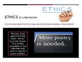 Poem Close Reading Lesson with Ethics by Pastan