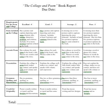 Poem & Collage Book Report