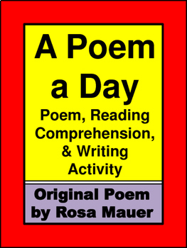 Poem Reading Comprehension and Capital Letters Activity