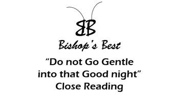 Poem Do Not Go Gentle Close Reading symbol oxymoron infer