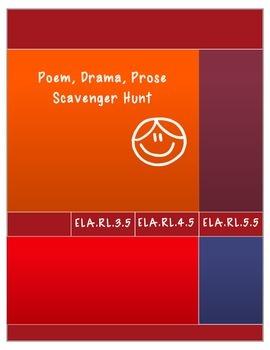 Poem, Drama, Prose Scavenger Hunt