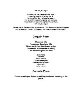 Poem Forms