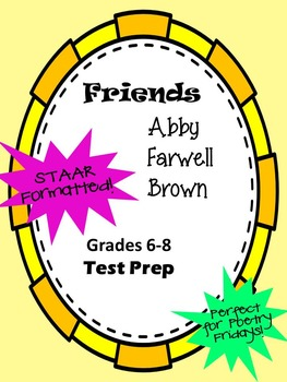 Poem Friends by Abby Farwell Brown STAAR-formatted questions