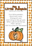 Poem - I'm a Little Pumpkin FREEBIE