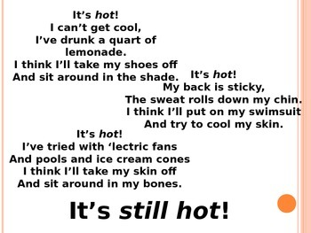 "Poem, ""It's Hot"" to Introduce Weather"