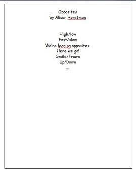 Poem:  Opposites