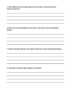 Poem Packet #2 - Analysis, Vocab, Essays, Mini-lessons
