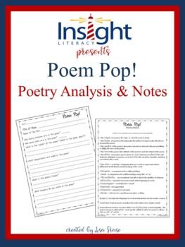 Poem Pop Poetry Analysis Activity