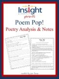 Poem Pop! Poetry Analysis Activity