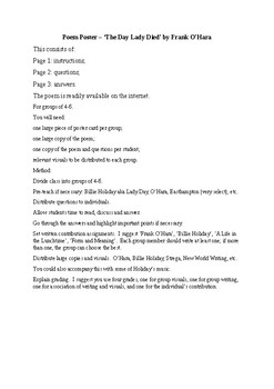 Poem Poster - 'The Day Lady Died' by Frank O'Hara