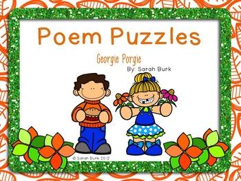 Poem Puzzles - Georgie Porgie - Nursery Rhymes