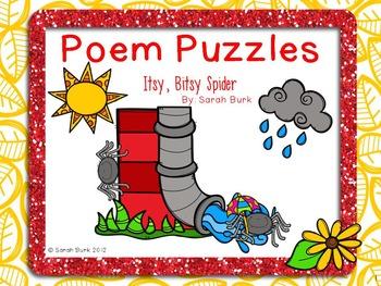 Poem Puzzles - Itsy, Bitsy Spider - Nursery Rhymes