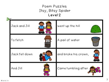 Poem Puzzles - Jack and Jill - Nursery Rhymes