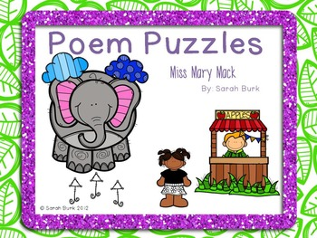 Poem Puzzles - Miss Mary Mack - Nursery Rhyme