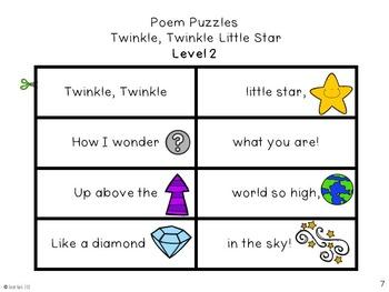 Poem Puzzles - Twinkle, Twinkle, Little Star - Nursery Rhyme