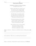 Poem Read and Respond activity