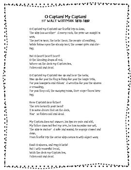 Poem Recitation Packet