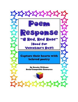 """Poem Response Questions to """"A Red, Red Rose"""" by Robert Burns"""