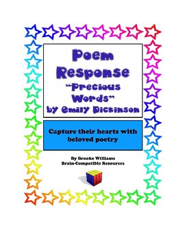 """Poem Response Questions to """"Precious Words"""" by Emily Dickinson"""