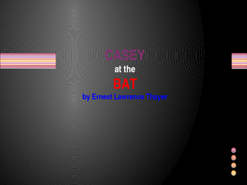 Poem Review..Casey at the Bat Powerpoint