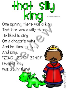 Poem/Short Story with -ing (That Silly King) {Simplified Teaching}