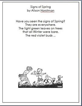 Poem:  Signs of Spring