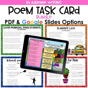 Poem Test Prep Task Card BUNDLE