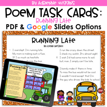 Poem Test Prep Task Cards: Running Late