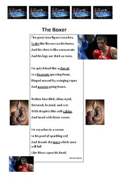 Poem - The Boxer - Inferring/Visualising Reading Strategies