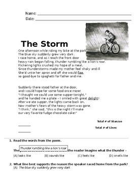 Poem - The Storm (FREE Reading Passage)