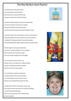 Reading - QAR -Poem - The day my BUM went phsycho!
