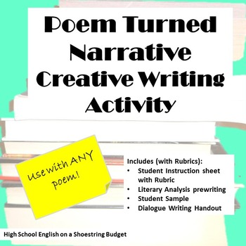 Poem Turned Narrative Creative Writing Activity (For Any Poem)