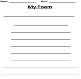 Poem Writing Paper