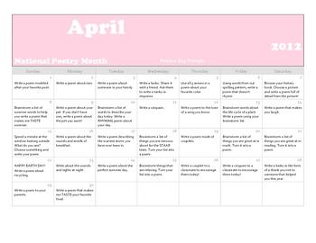 Poem a Day Calendar