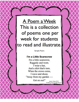 A Poem a Week for a Year: Poetry and Fluency practice