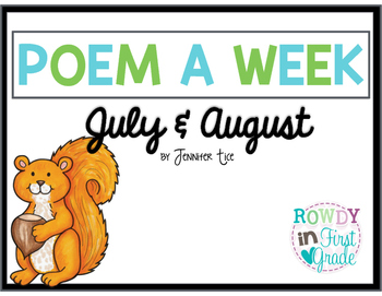 Poem a Week July August