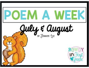 Poem a Week July August