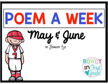 Poem a Week May and June