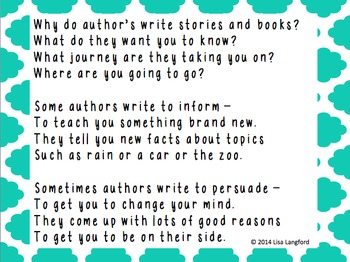Poem about Author's Purpose