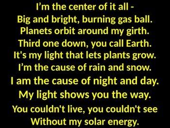 Poem about Our Sun